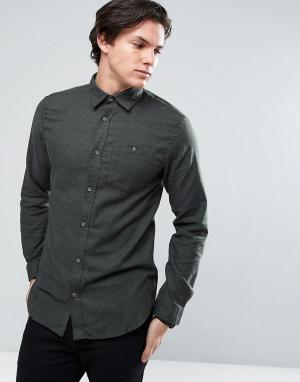 Jack & Jones Джинсовая классическая рубашка с карманом Originals. Цвет: зеленый