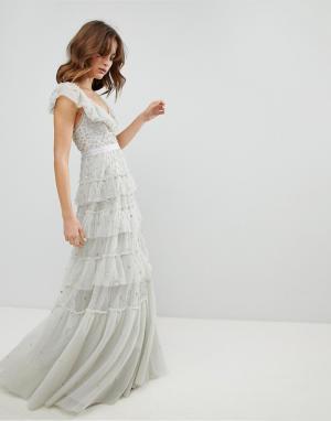 Needle & Thread Платье. Цвет: синий