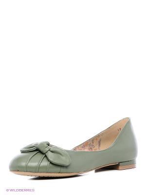 Балетки Lisette. Цвет: зеленый