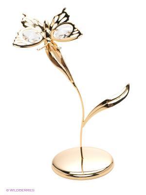 Фигурка Бабочка на лепестке Юнион. Цвет: золотистый