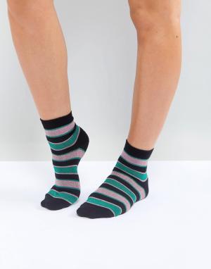 ASOS Носки с блестящими полосками. Цвет: мульти