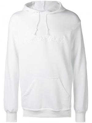 Embroidered oversized hoodie Rodarte. Цвет: белый
