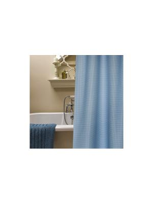 Штора для ванной комнаты 178х180см синяя,полиэстер NIKLEN. Цвет: синий