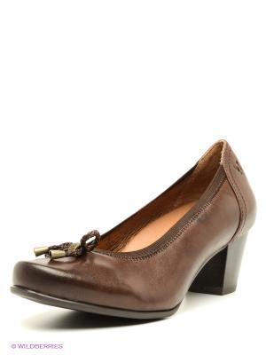 Туфли Caprice. Цвет: темно-коричневый