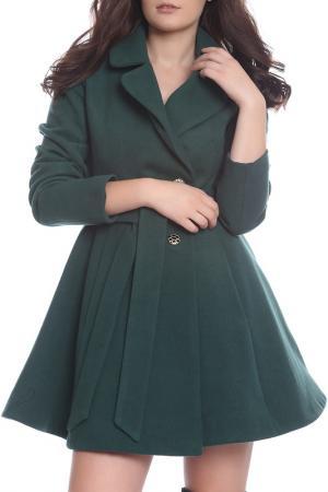 Пальто Moda di Chiara. Цвет: зеленый
