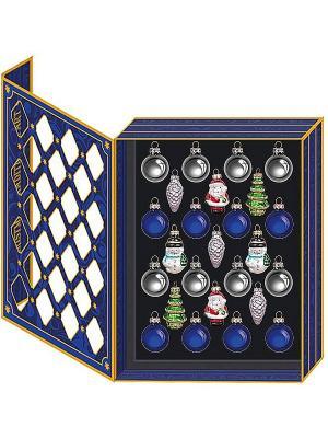 Набор елочных шаров Mister Christmas. Цвет: синий