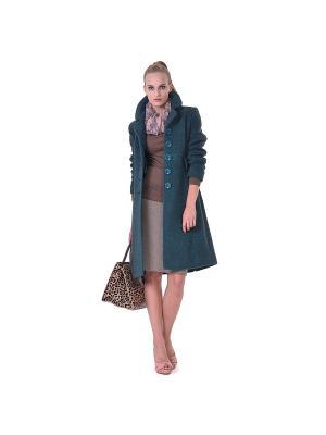 Пальто LO. Цвет: бирюзовый