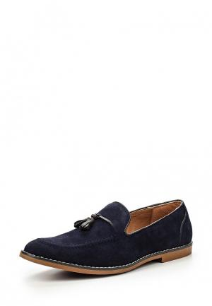 Лоферы Burton Menswear London. Цвет: синий