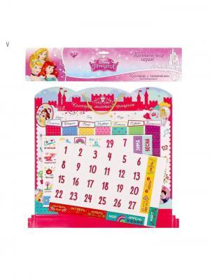 Календарь, Принцессы Disney. Цвет: красный, кремовый, фуксия