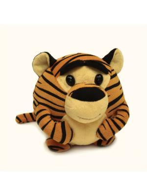 Мягкая игрушка шарик Тигрик, Malvina. Цвет: желтый, черный