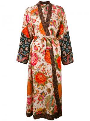 Кимоно с цветочным принтом Anjuna. Цвет: телесный