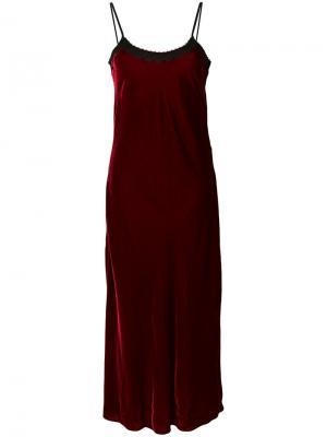 Платье на бретельках Mann Racil. Цвет: красный