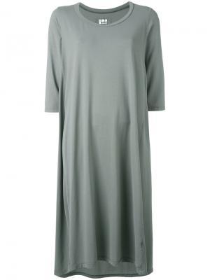 Платье шифт средней длины Labo Art. Цвет: серый