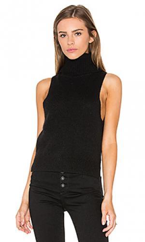 Водолазка без рукавов cambry sweater 360. Цвет: черный