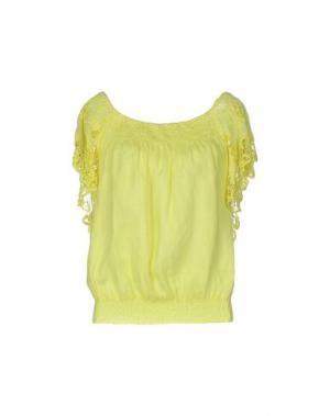 Блузка TEMPTATION. Цвет: желтый