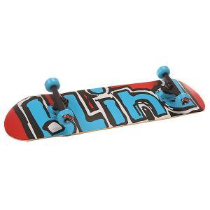 Скейтборд в сборе  S6 Matte Og Logo Ful Red/Blue 30.75 x 7.7 (19.6 см) Blind. Цвет: голубой,красный,белый,черный