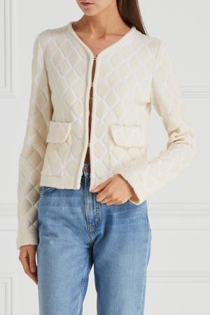 Фактурная куртка Maison Ullens. Цвет: молочный