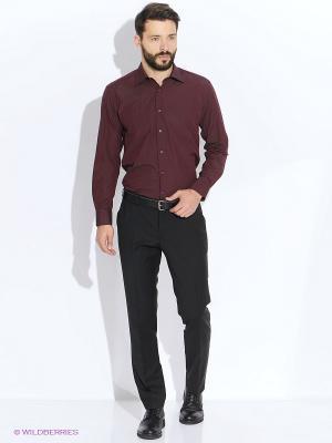 Рубашка LIVANSO. Цвет: бордовый