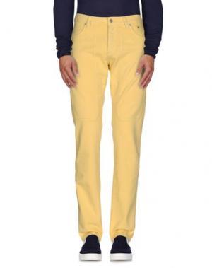 Джинсовые брюки JECKERSON. Цвет: желтый