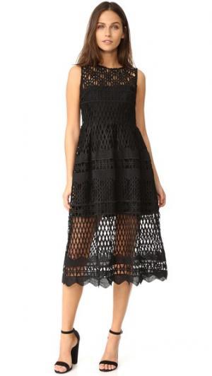 Миди-платье Demure Ministry of Style. Цвет: голубой