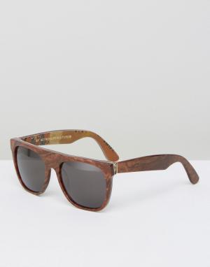 Retrosuperfuture Солнцезащитные очки с плоским верхом Miracolo. Цвет: коричневый