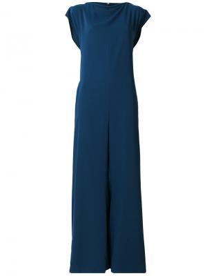 Комбинезон с широкими штанинами Mm6 Maison Margiela. Цвет: синий