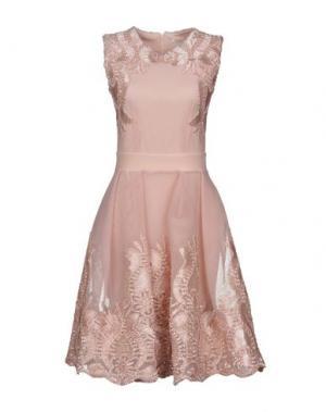 Платье до колена MAJE. Цвет: розовый
