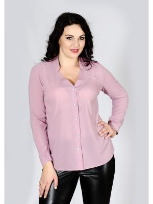 Блузка Лагуна. Цвет: бледно-розовый