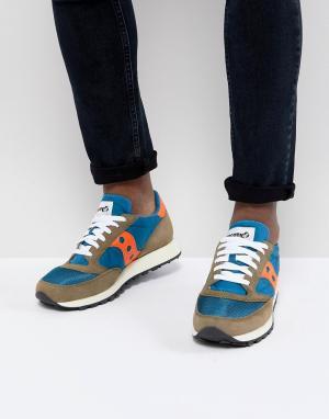 Saucony Синие кроссовки Jazz Original S70368-14. Цвет: синий