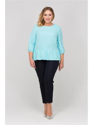 Блуза Интикома. Цвет: голубой