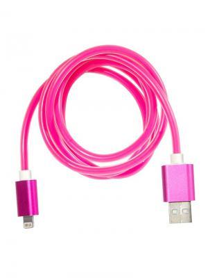 Дата-кабель Lightning IQ Format. Цвет: розовый