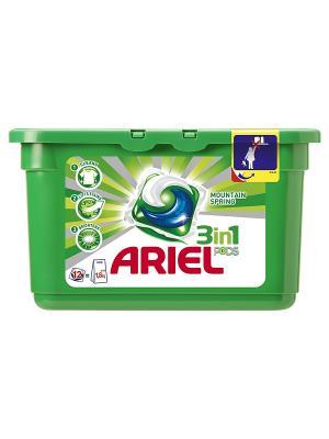 Гель в растворимых капсулах Liquid Capsules Горный родник 12X28.8г Ariel. Цвет: зеленый