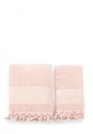 Комплект полотенец 2 шт. Sofi De Marko. Цвет: розовый