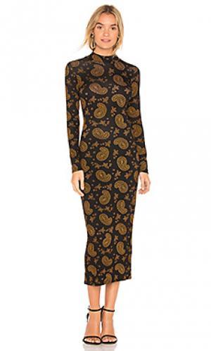 Платье с длинным рукавом duncan Clayton. Цвет: черный