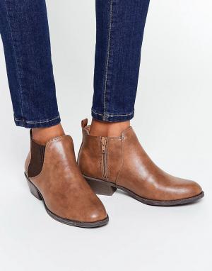 Head Over Heels Светло-коричневые ботинки челси By Dune Piro. Цвет: рыжий