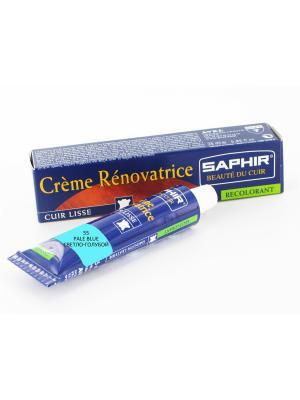 Восстановитель кожи Creme RENOVATRICE, 25 мл. (жидкая кожа)(55 светло-голубой) Saphir. Цвет: светло-голубой