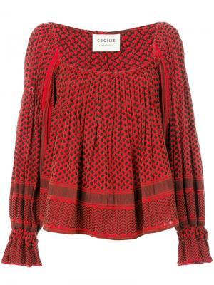 Расклешенная блузка Cecilie Copenhagen. Цвет: none
