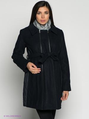 Пальто Mama Licious. Цвет: темно-синий