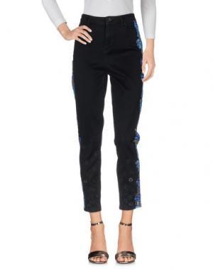 Джинсовые брюки ELIE TAHARI. Цвет: черный