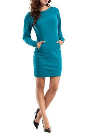 Платье Moe. Цвет: зеленый