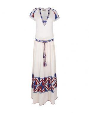Длинное платье LANEUS. Цвет: бежевый