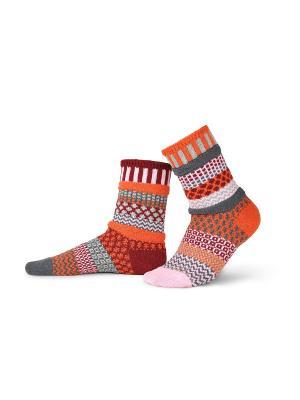 Носки solmate socks. Цвет: бронзовый, рыжий, светло-коричневый