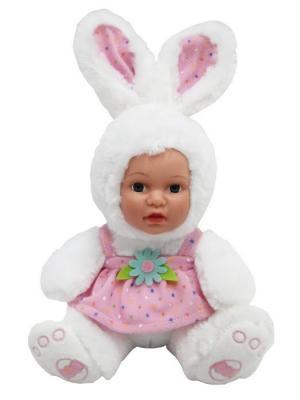 Кукла Anna De Wailly Зайчик в платьице 25см Склад Уникальных Товаров. Цвет: белый