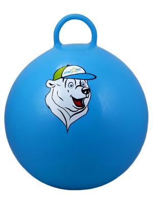 Мяч-попрыгун STARFIT GB-403 65 см Медвеженок, с ручкой, синий 1/10. Цвет: синий