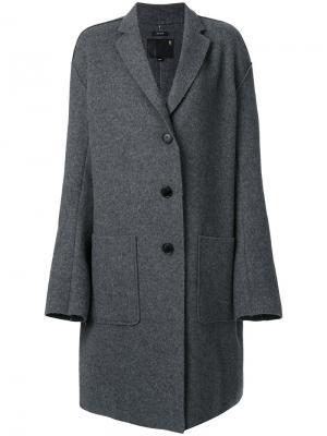 Свободное пальто R13. Цвет: серый