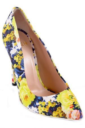 Туфли MSGM. Цвет: желтый