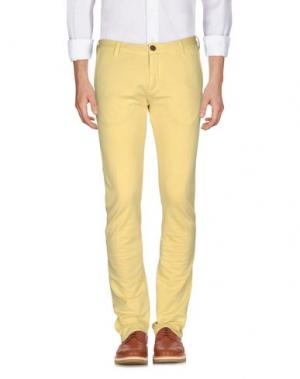 Повседневные брюки DOMENICO TAGLIENTE. Цвет: желтый