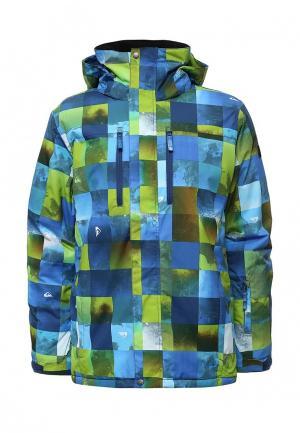 Куртка горнолыжная Quiksilver. Цвет: разноцветный