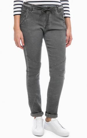 Серые брюки из денима MORE &. Цвет: серый