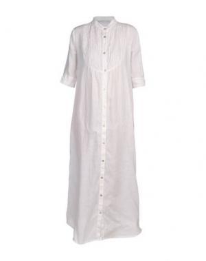 Длинное платье LA FABBRICA DEL LINO. Цвет: белый